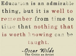 Education is an admirable 
