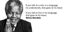 If you talk to a man in a language 