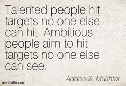 Talented people hit 