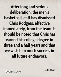 After long and serious 