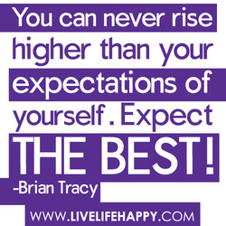 You can never rise 