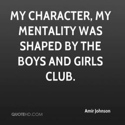 MY CHARACTER, MY 