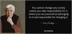 You cannot change any society 