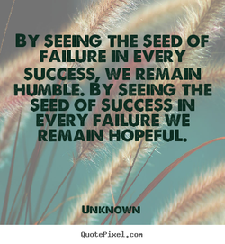 BY SEEING THE SEED OF 