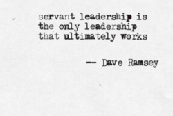 servant leadership is 