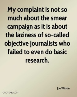 My complaint is not so 