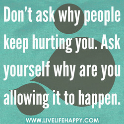 Don't ask why people 