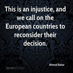 This is an injustice, and 