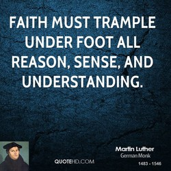 FAITH MUST TRAMPLE 
