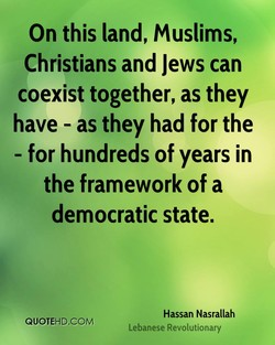 On this land, Muslims, 