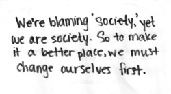 blaming 