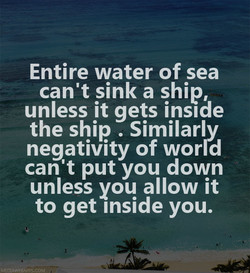 Entire water of sea 