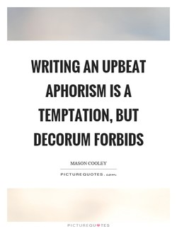 WRITING AN UPBEAT 