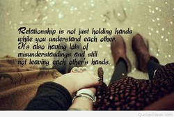 Relationship is not iusf holding hands 
