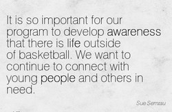 It s so Important for our 