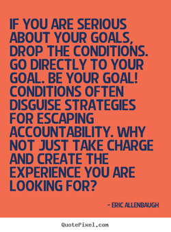 IF YOU ARE SERIOUS 