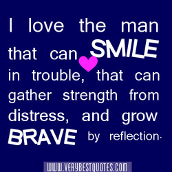 I love the man 
