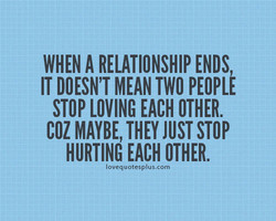 WHEN A RELATIONSHIP ENDS, 