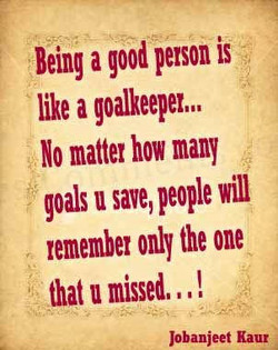 Being a good person is 