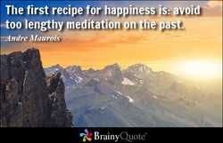 The first recipe for happines s: avoid$ 