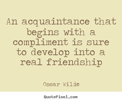 An acquaintance that 