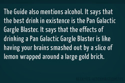 The Guide also mentions alcohol. It says that 