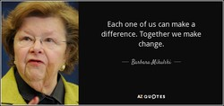 Each one of us can make a 