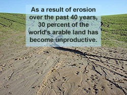 As a result Of erosion 