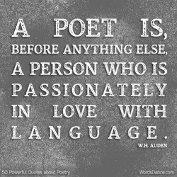 A POETg IS, 