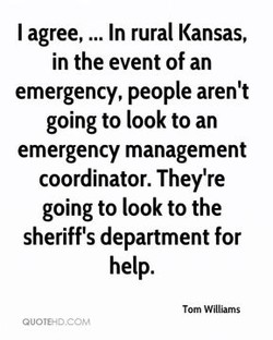 I agree, ... In rural Kansas, 