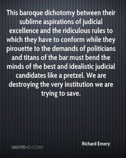 This baroque dichotomy between their 