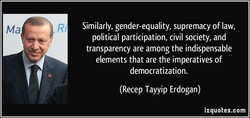 Similarly, gender-equality, supremacy of law, 