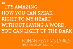 IT'S AMAZING 