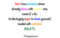 Don't love someone whose 