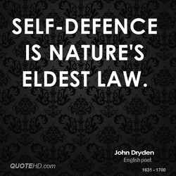 SELF-DEFENCE 