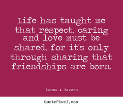 Life has taught me 