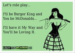 Let's role play... 