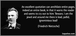 An excellent quotation can annihilate entire pages, 