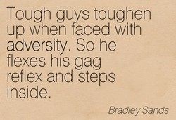 Tough guys toughen 