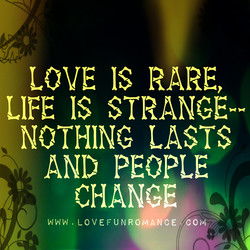 LOVE IS RARE, 
