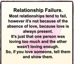 Relationship Failure. 