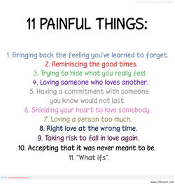 II PAINFUL THINGS: 