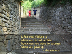 Life's real:failureis 