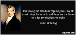 Positioning the brand and regaining trust are all 
