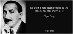 No guilt is forgotten so long as the 