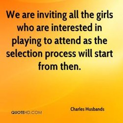 We are inviting all the girls 