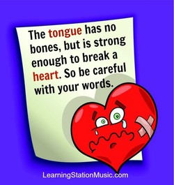 The tongue has no 