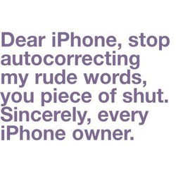Dear iPhone, stop 
