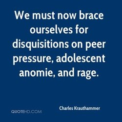 We must now brace 