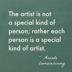 The artist is not 